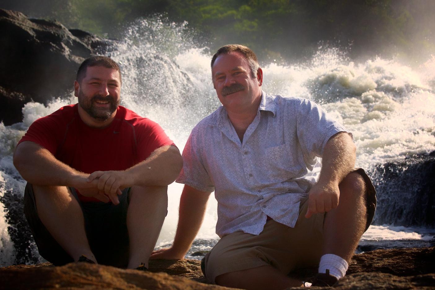 Leo and me in Uganda