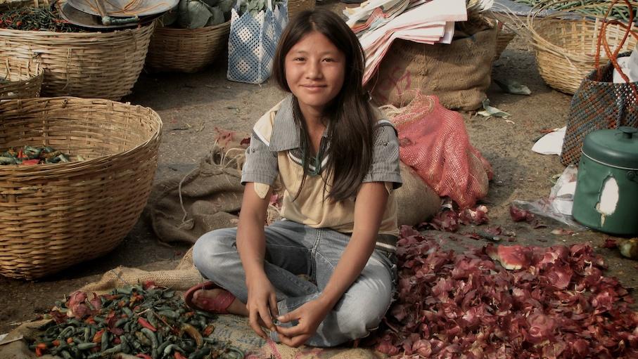 Girl in the market