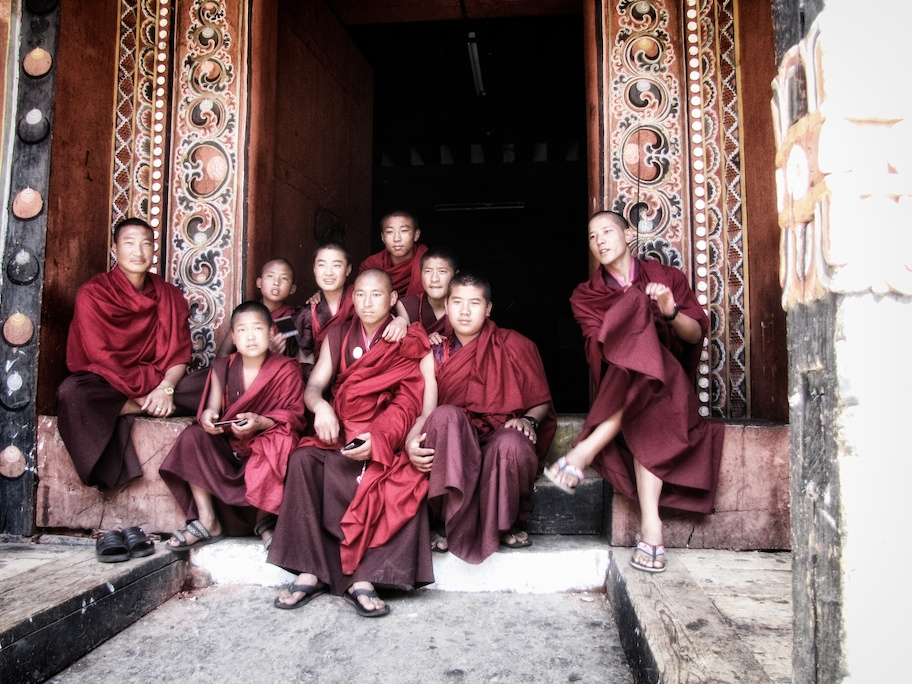Monks in Paro Dzong