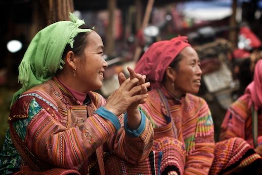 Women selling in market