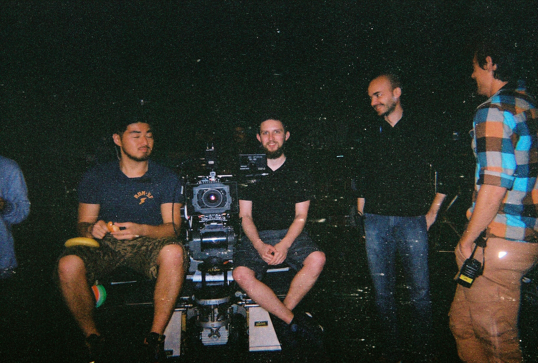 (left to right) 1st AC John, 2nd AC Joe Seiler, Producer Scott, 1st AD Patrick