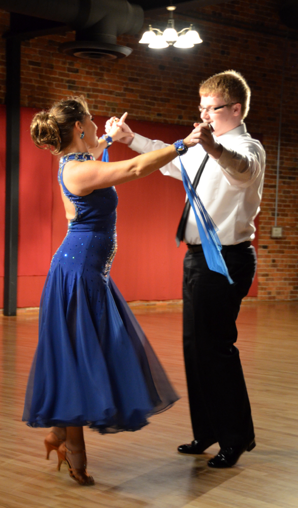 Ben Sharp dancing a Waltz with Shelley Fritz
