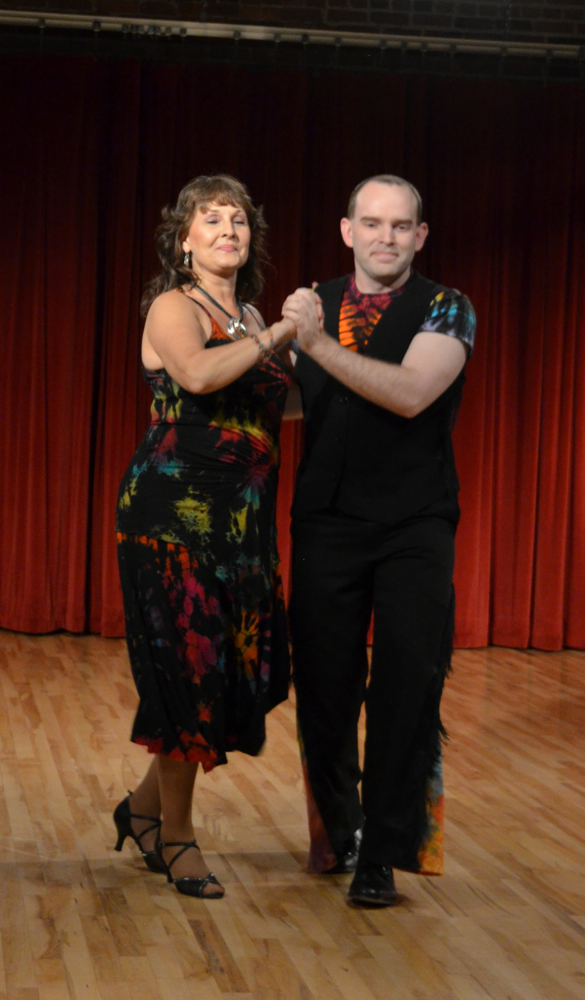 Chris Wheeler and Kim Dondlinger performing a Samba