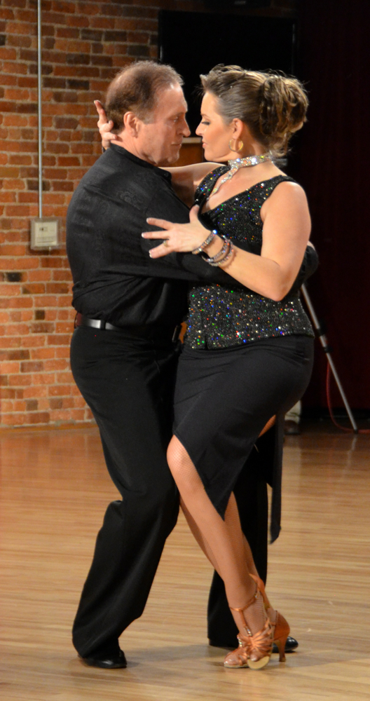Jerry Gemar dancing Argentine Tango with Shelley Fritz.