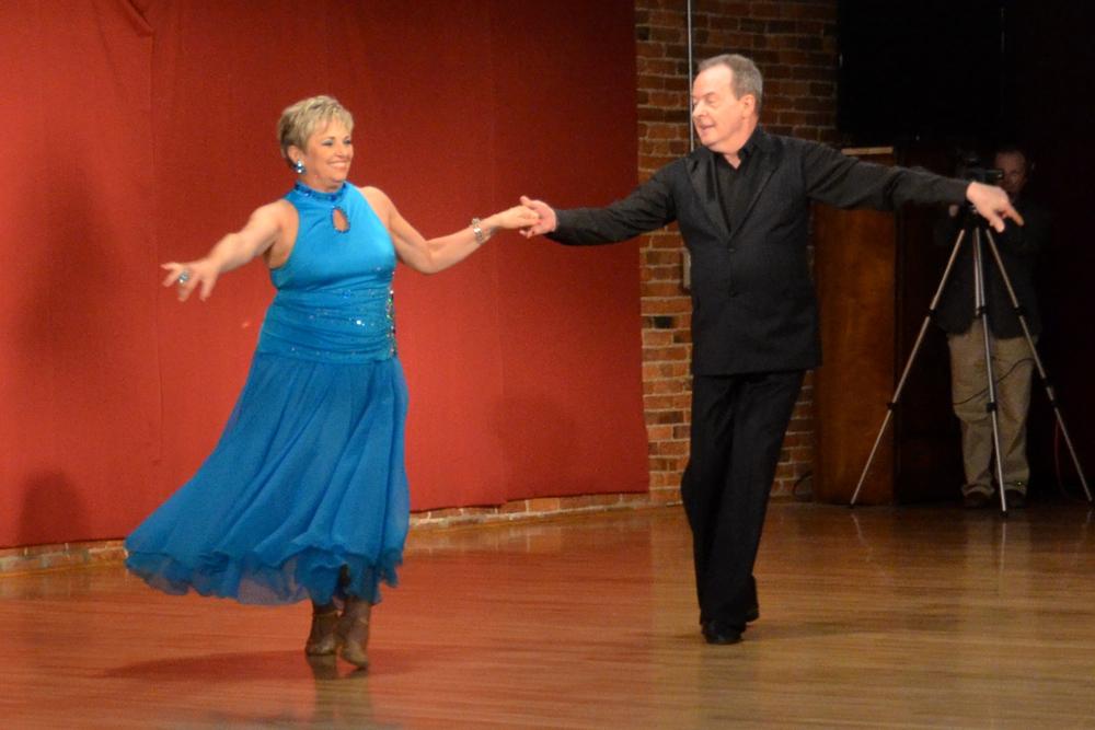 Dara Gemar dancing Foxtrot with Kristoffer Shaw.