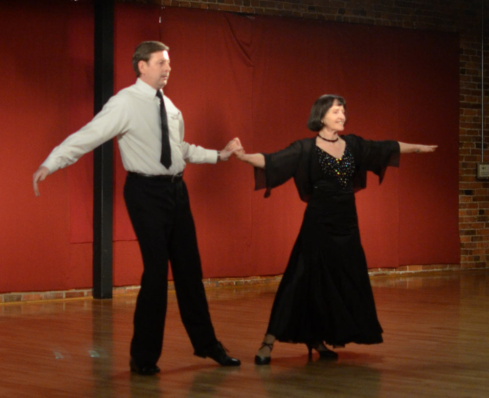 Stephen Tullis and Margot Conrad performing an American Tango