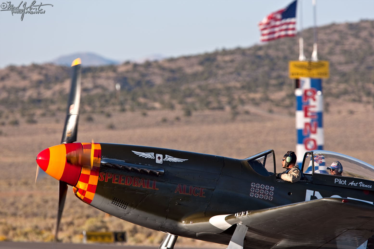 Unlimited Class aircraft at the Reno Air Races.