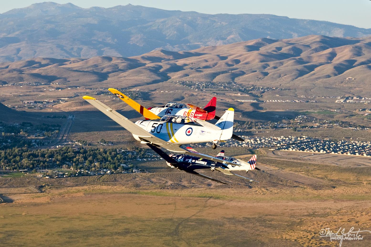 North American AT-6 Class aircraft at the Reno Air Races.