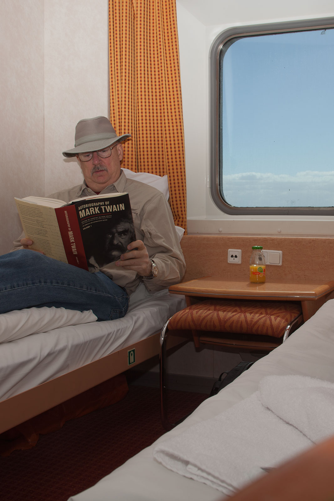 It's a long passage across the Bass Strait - plenty of time for some reading.