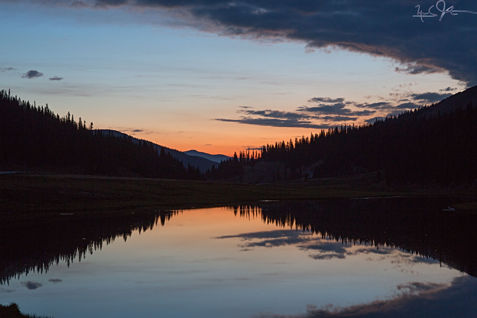 Starting point - Poudre Lake at dawn.