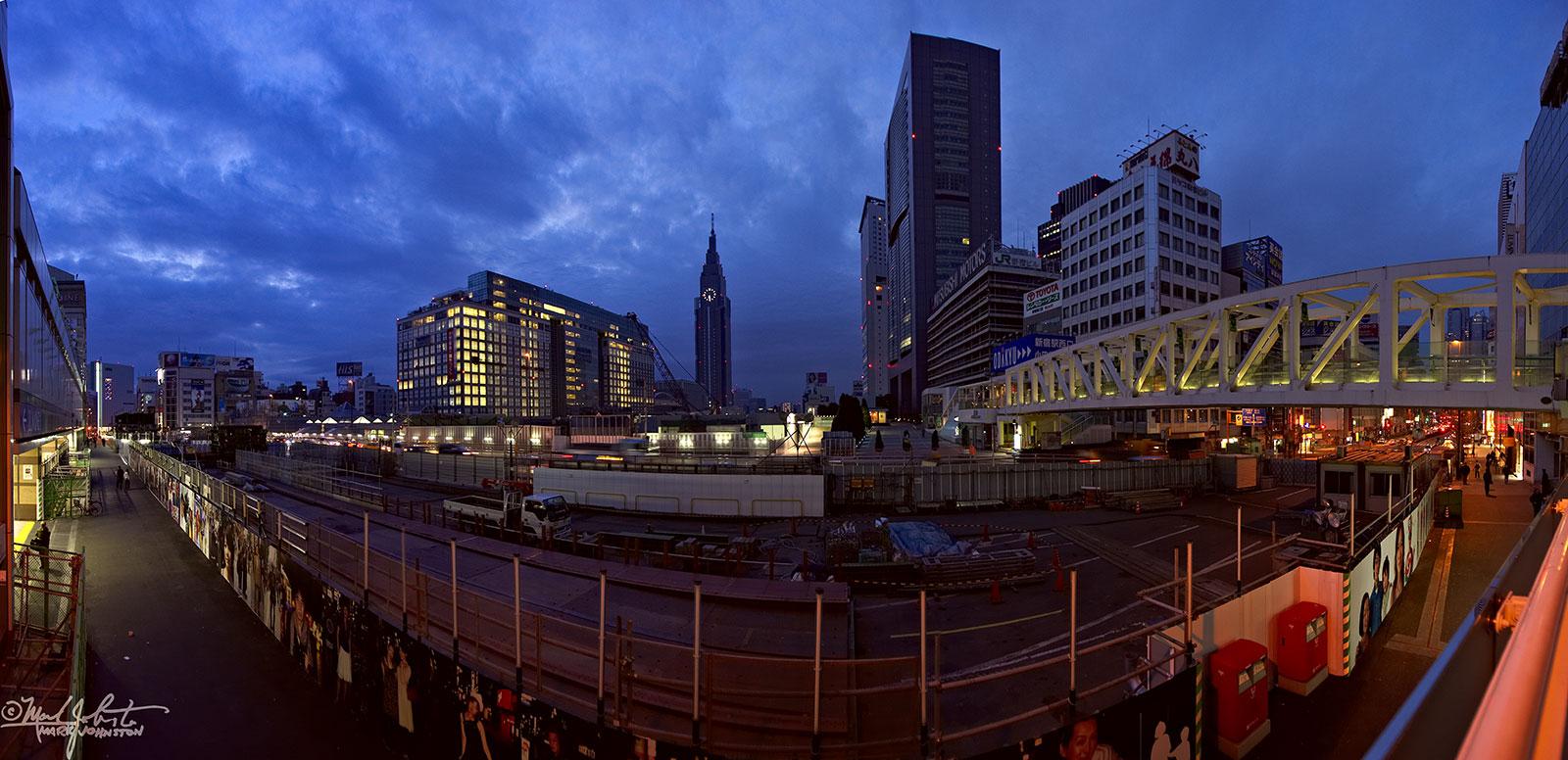 Shinjuku Station construction project, Tokyo, Japan.