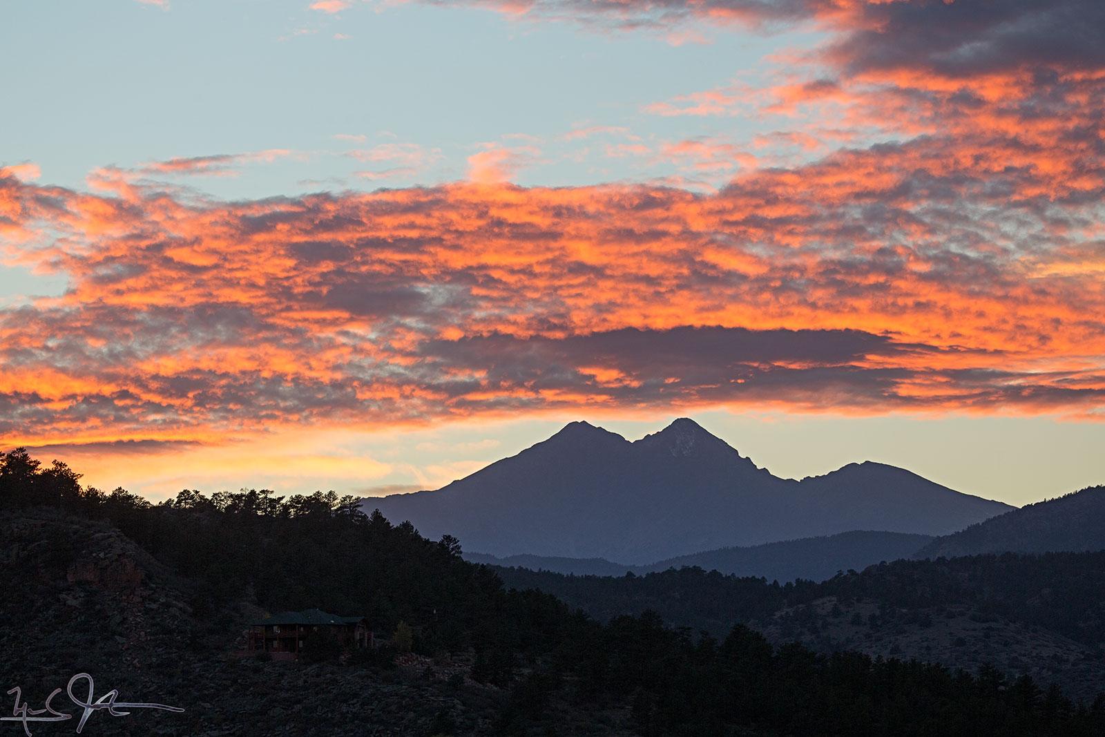 Mount Meeker, Long's Peak, and Mount Lady Washington.