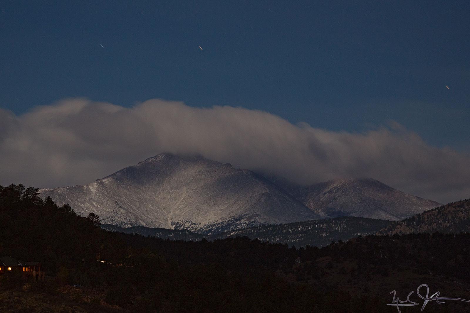 Cloud bank behind Mount Meeker.