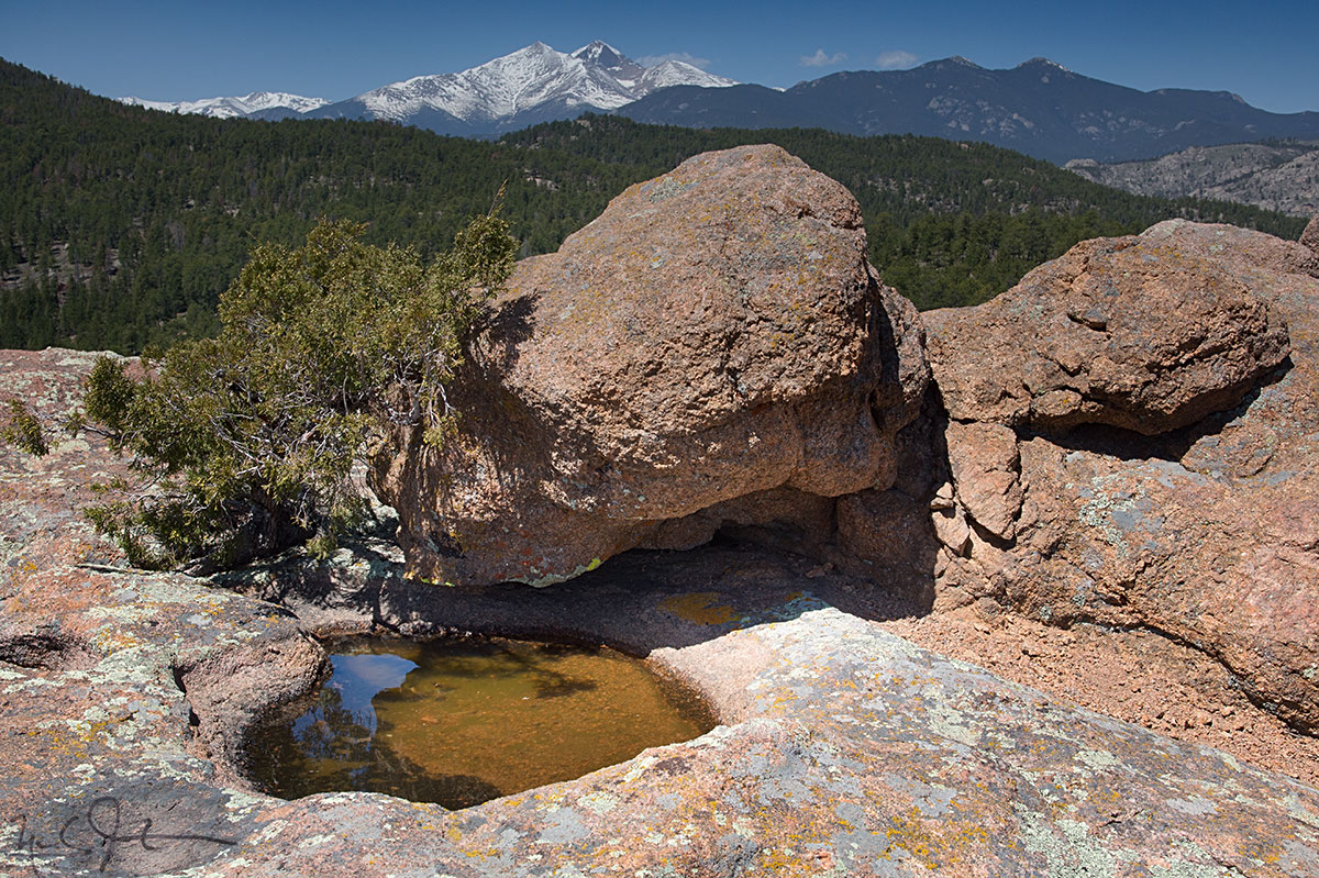 Looking west towards Mt. Meeker and Long's Peak from Button Rock.