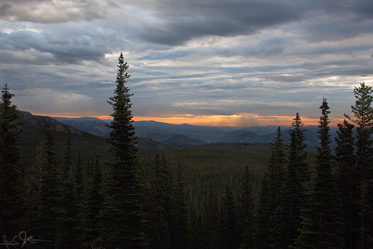 Dawn in Rocky Mountain National Park.