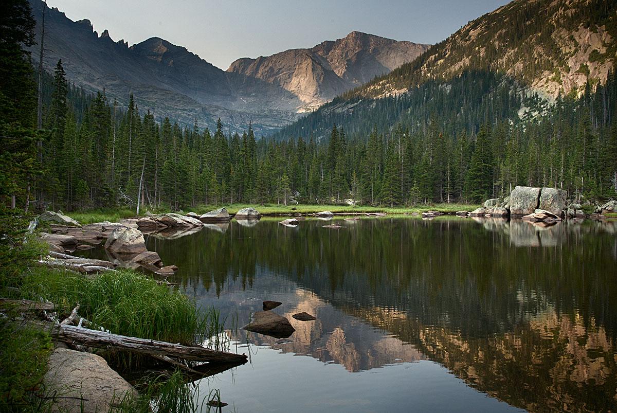 Jewel Lake, Rocky Mountain National Park.