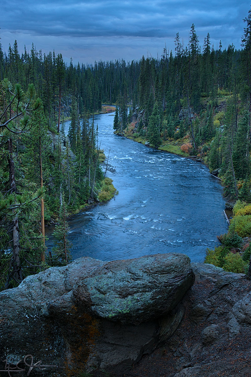 The headwaters area at the southern end of Yellowstone National Park.