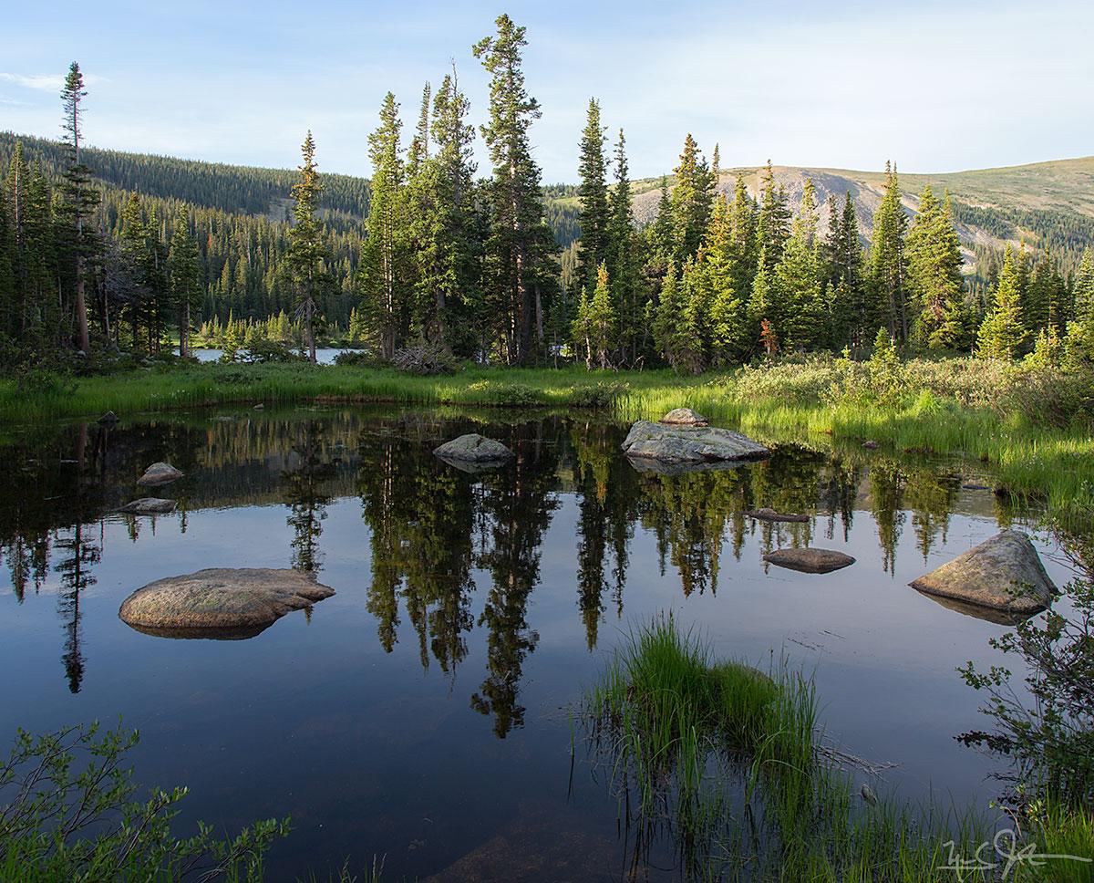 A pond at the foot of Long Lake.