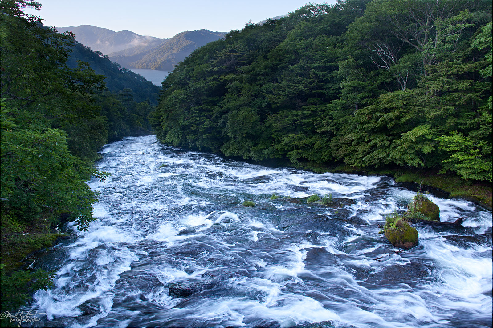 The Yukawa [湯川] river plummets towards Lake Chuzenji [中禅寺湖], Nikko [日光], Tochigi Prefecture [栃木県], Japan.