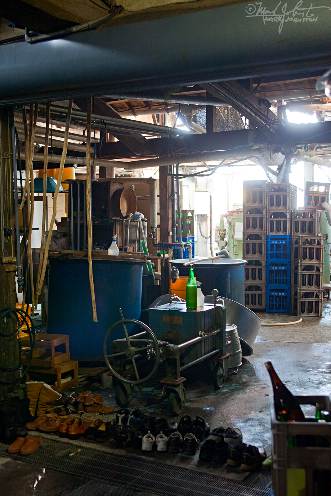 Inside the Kame Izumi [亀泉] sake brewery, Kochi Prefecture, Japan.