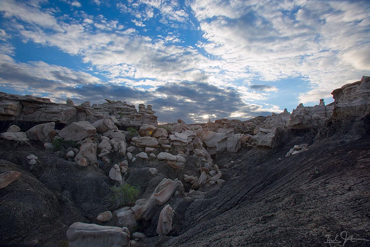 In the Bisti-De Na Zin wilderness, New Mexico.