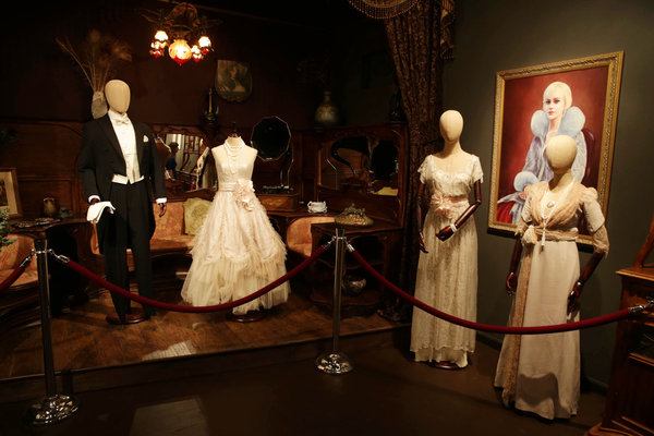 "They're showing the work of  ""Great Gatsby"" designer Catherine Martin, May 8 to June 1. Mighty fine! Image and article in the LA Times. Click on through."