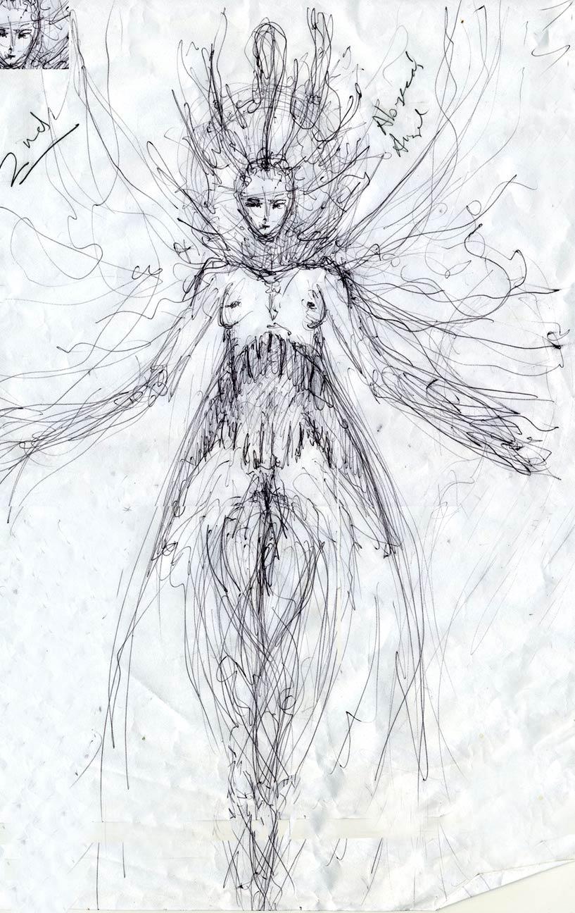 Abyssal Angel sketch