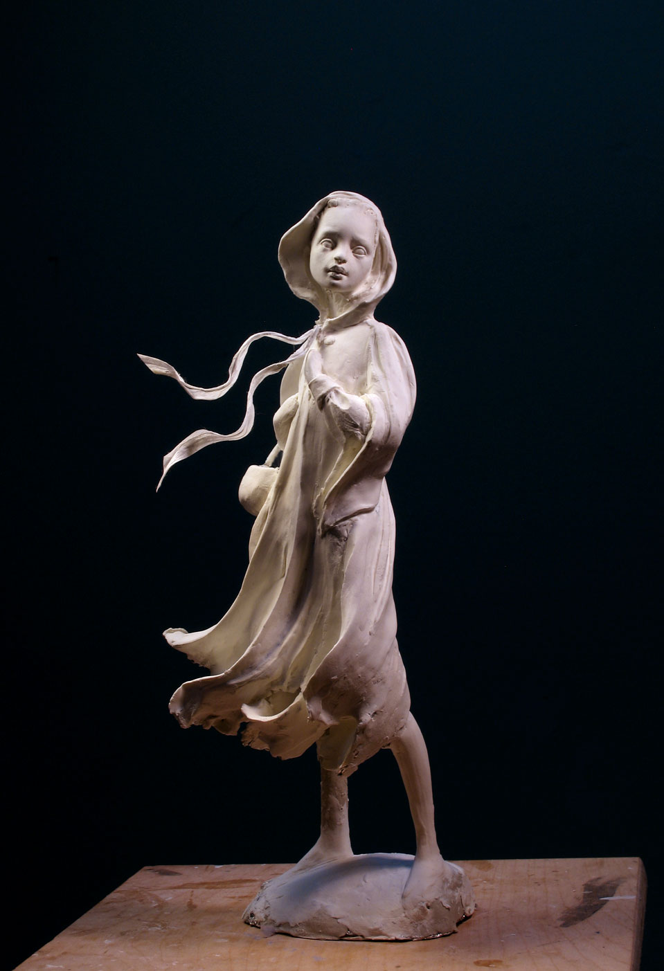 Just coming along in Premier air dry clay... a very smooth, soft clay to work with... about 13+ inches tall