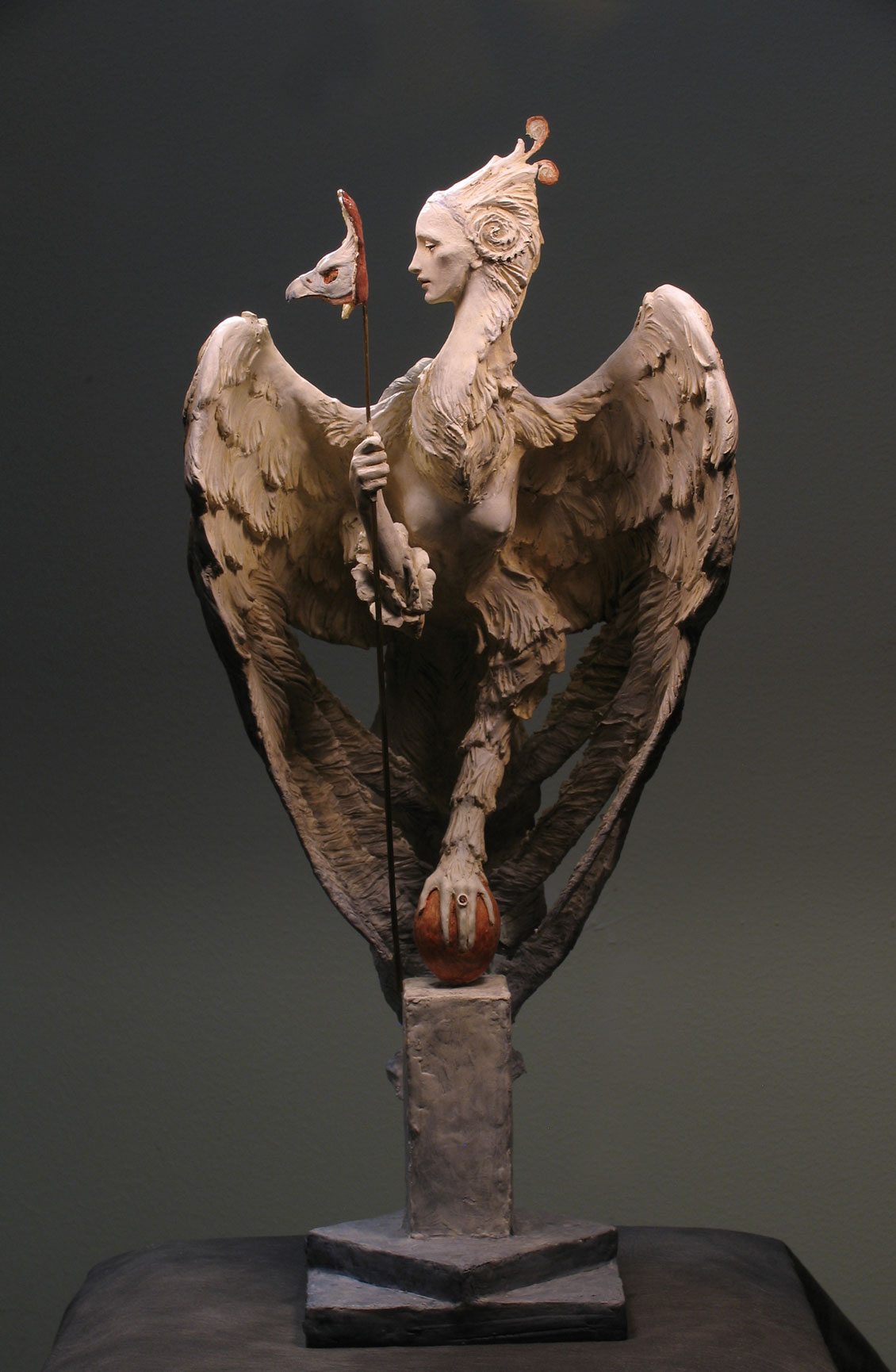 Venetian Harpy, 11 x 22 inches, in mixed media, completed 2014.