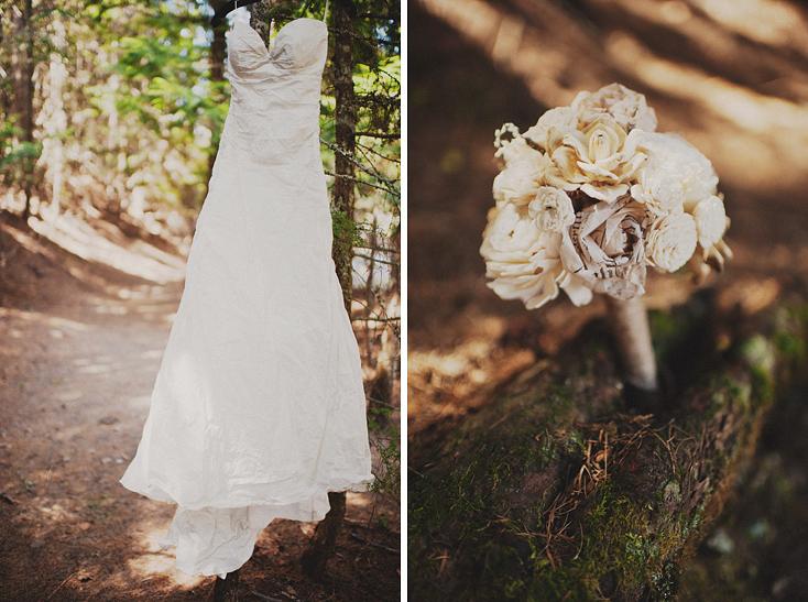 handmade paper bridal bouquet.