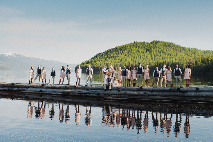 Bridal party photo in Priest Lake, Idaho by Seattle photographer Ryan Flynn.