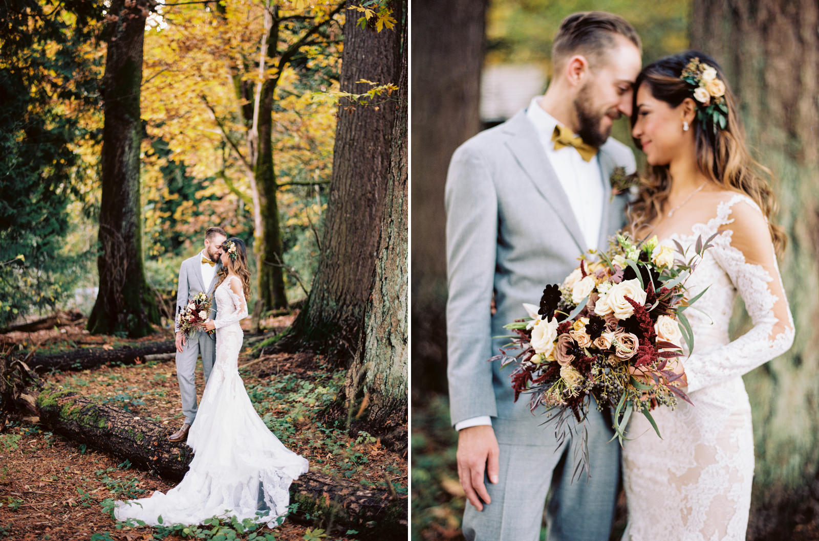 123-fall-wedding-photos-with-long-sleeve-pronovias-bridal-gown-and-thatch-floral-bouquet.jpg