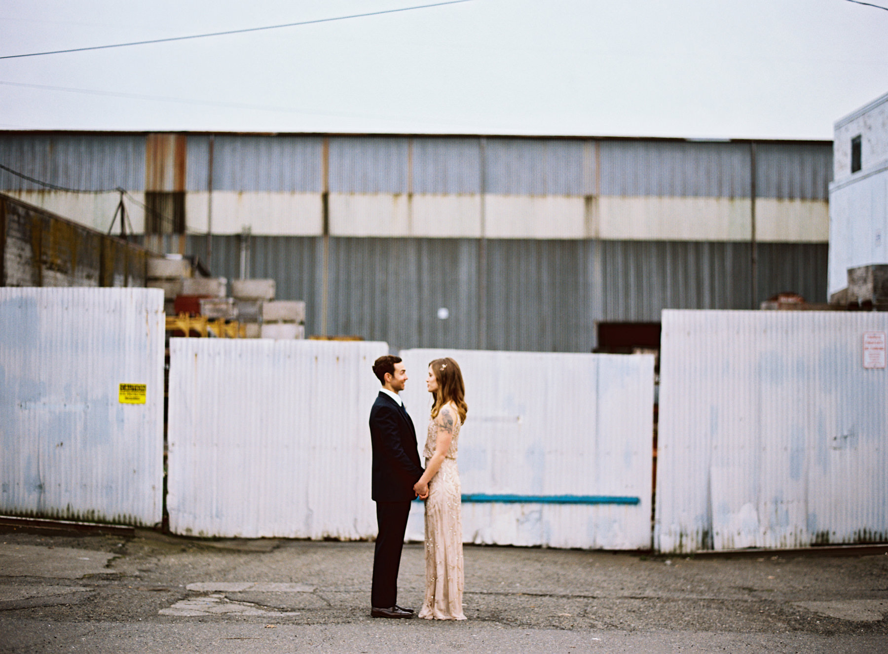 051-urban-wedding-portraits-by-film-photographer-ryan-flynn-in-industrial-area.jpg