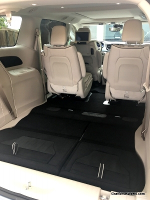 Cargo space expands when third row seats fold (easily) into cargo area. Even more space when second-row seats flattened.