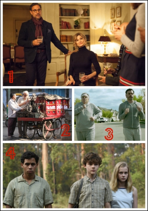 1.  SUBMISSION  starring Stanley Tucci and Kyra Sedgwick; 2.  KEEPERS OF THE MAGIC  documentary celebrating cinematography; 3.  HUMOR ME  starring Elliot Gould and Jemaine Clement; 4.  JASPER JONES  based on the beloved coming-of-age novel.