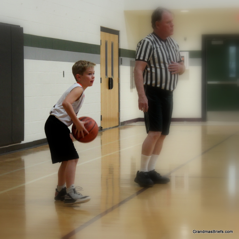 Brayden getting things going on the court