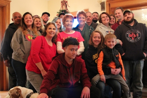 Family:The majority of mine, the majority of my sister Becky's,plus our mom.
