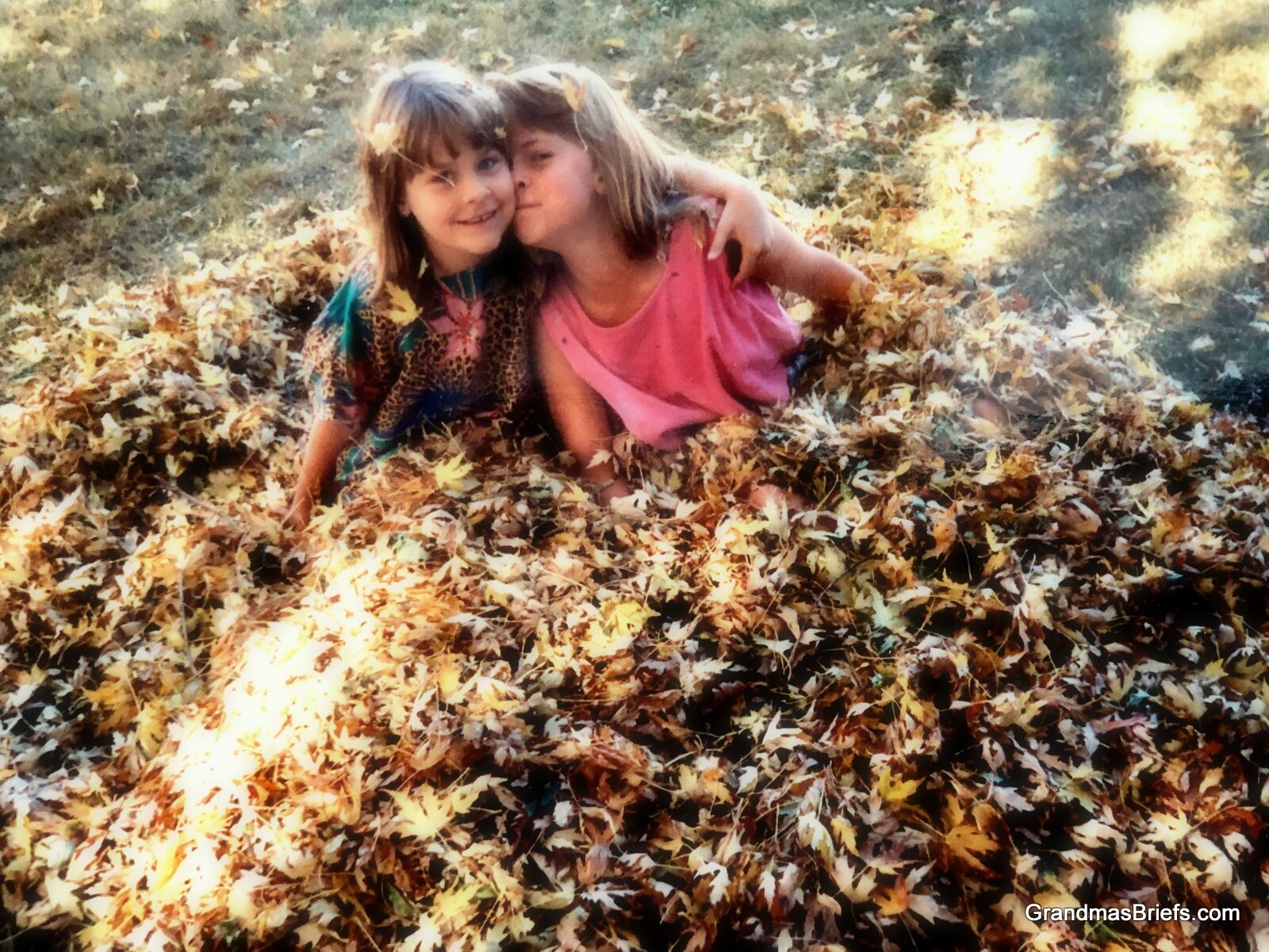 One of my fave fall photos: Andrea (7) and Megan (two months short of 9) in 1992