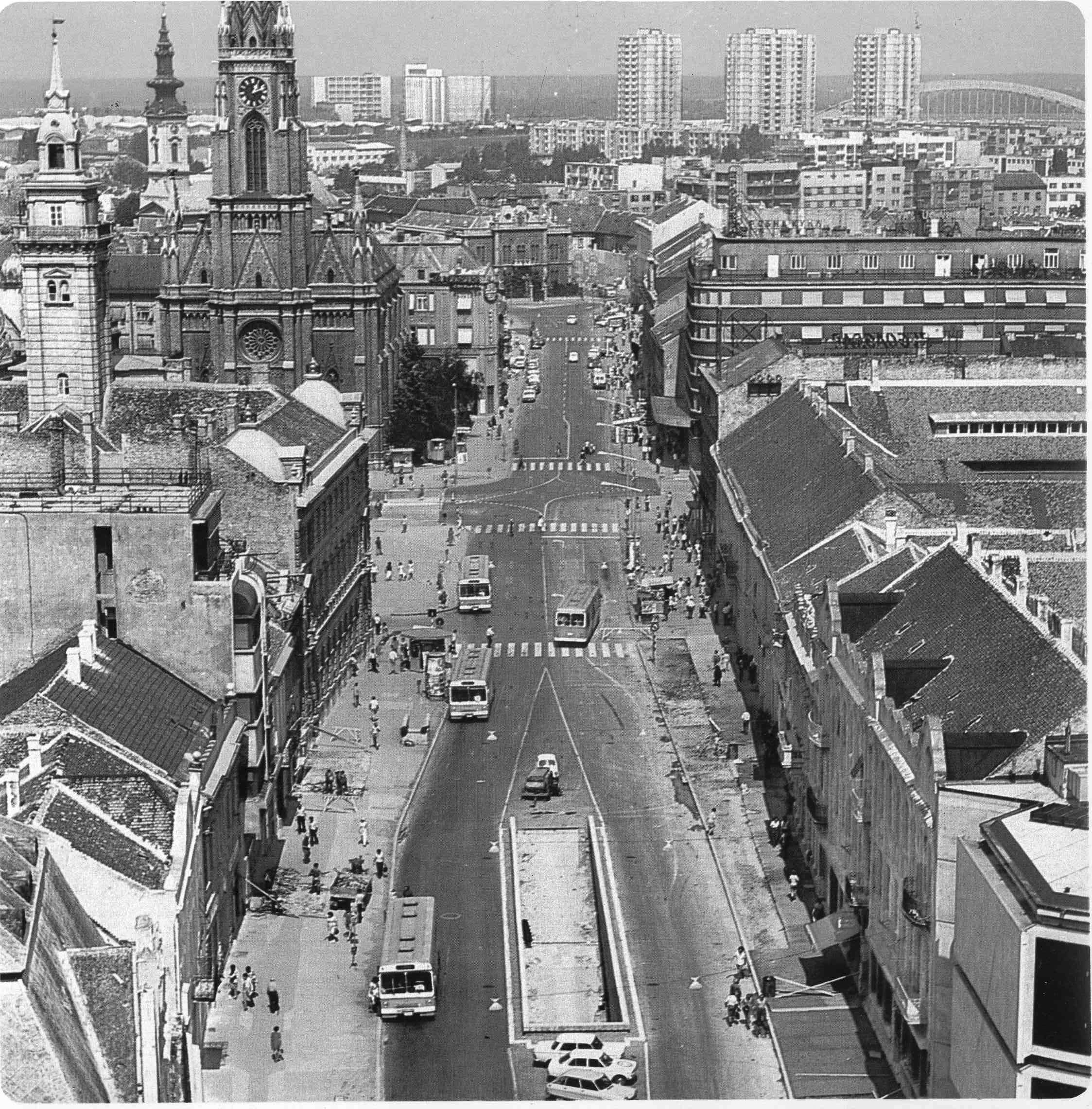 A look down the Capital's main avenue, circa 1962.