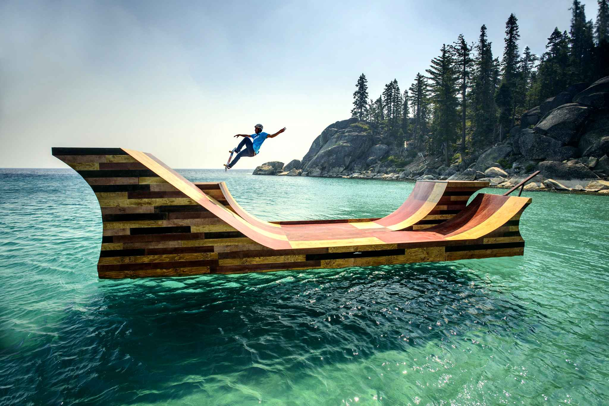 Bob Burnquist in Lake Tahoe.
