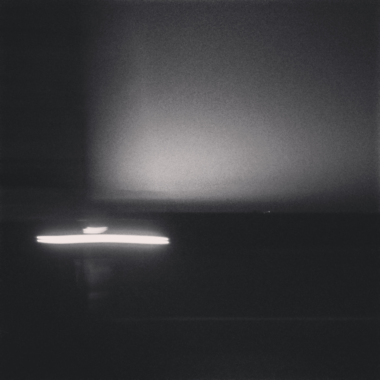 a light glistens.