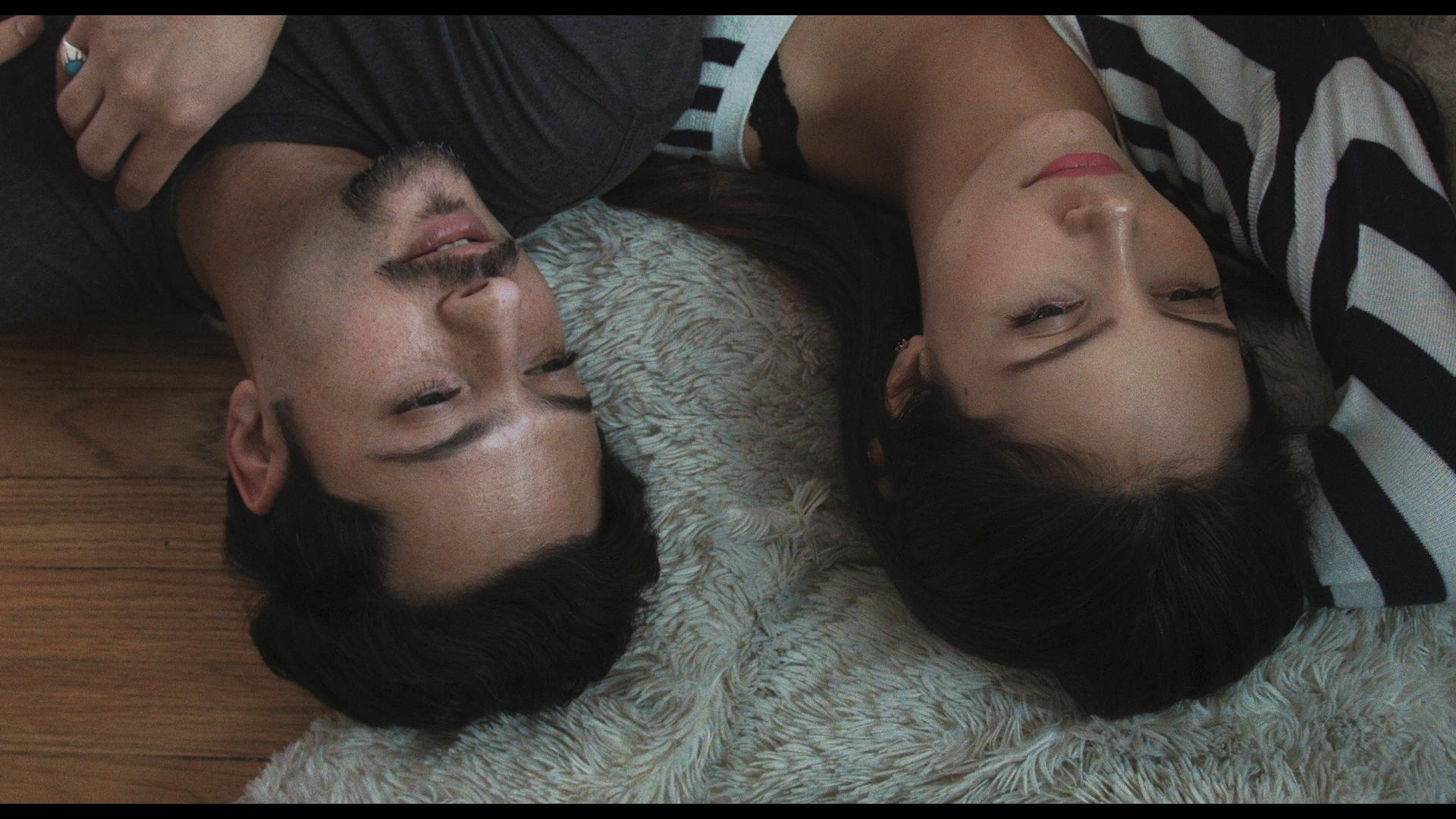 Amir Motlagh as Saam. Samantha Robinson as Ashley