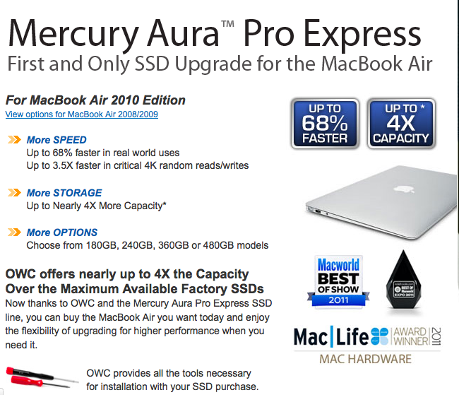 Mercury Aura Pro Express SSD