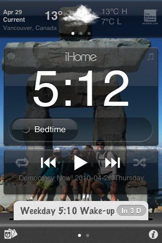 iHome iA5 iHome + Sleep main display