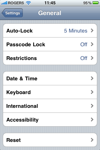 Settings—>General to find Accessibility iOS 4