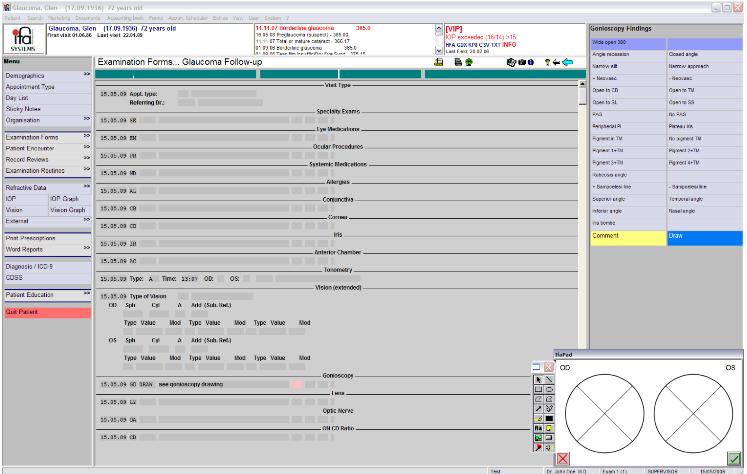 ifa Systems glaucoma exam form