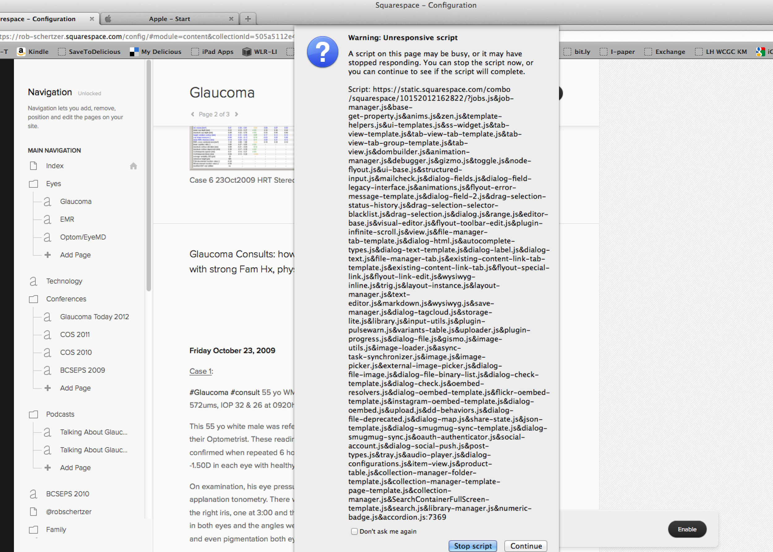 Sample Squaresapce script error