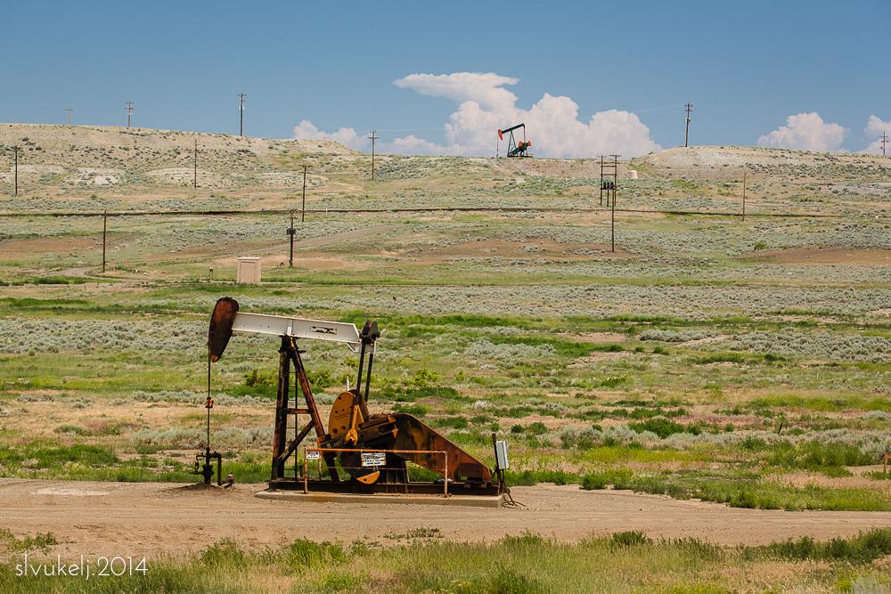Oil Derricks - Hamilton Dome, WY