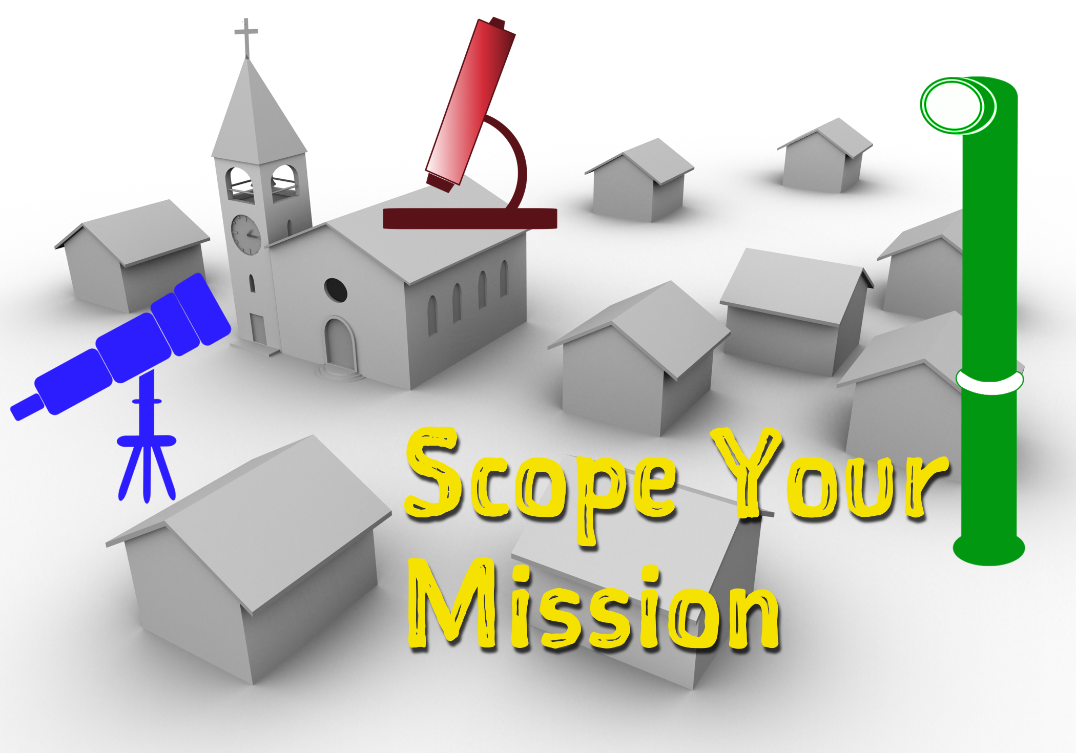 Use your Mission Telescope, Periscope, and Microscope.