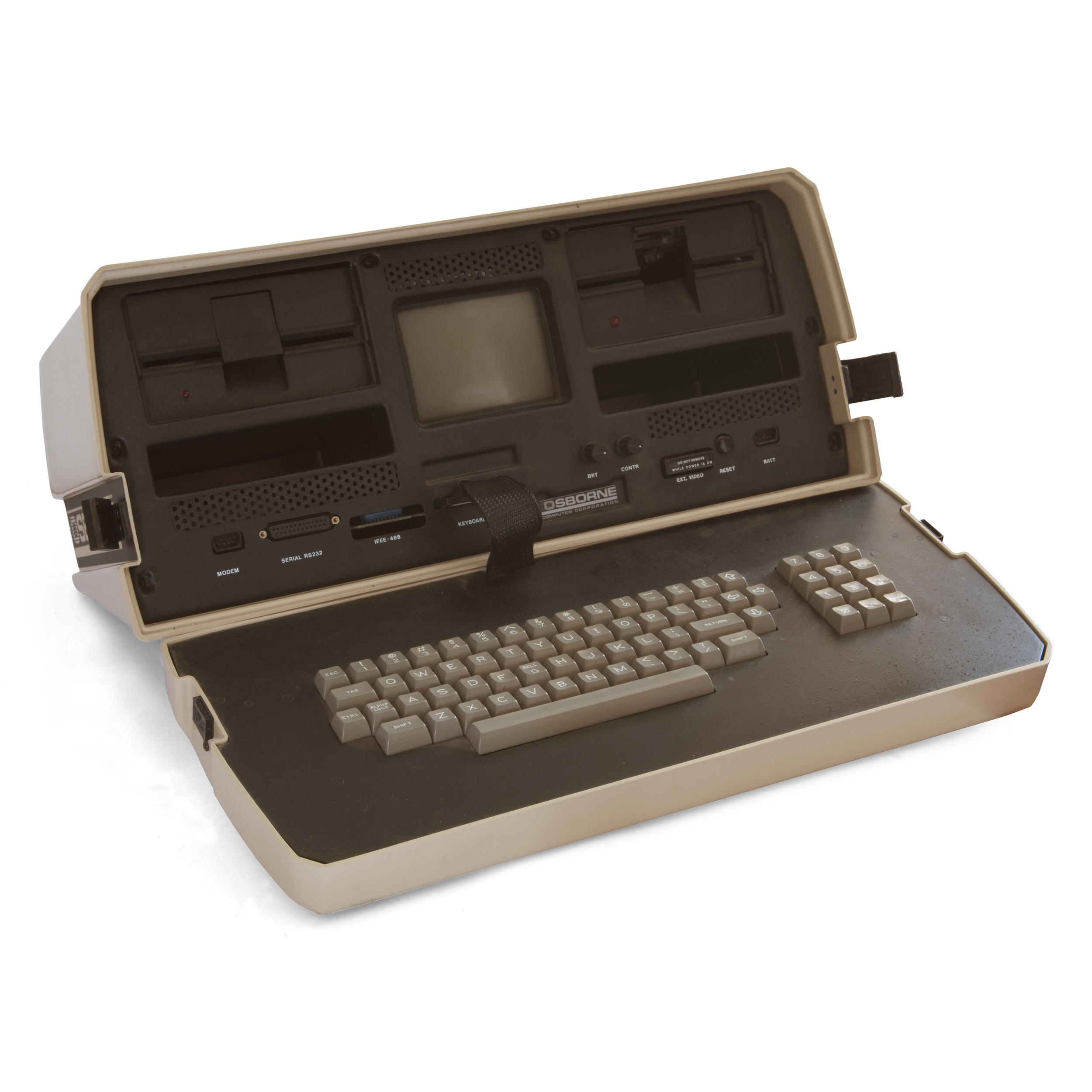 "Osborne 1, 23-lb. ""laptop"" computer,circa 1983"